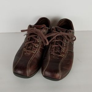 LL BEAN Mens BROWN LEATHER HIKING Shoes Size 7.5 M